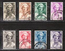 411/18  Deuil Reine Astrid - Série Complète - Oblit. - LOOK!!!! - Used Stamps