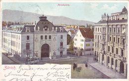 372/ Zurich, Paradeplatz, Tram Of Trolleybus, 1901 - ZH Zurich