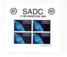 Angola 1999 SADC Southern African Development Community S/S MNH - Angola