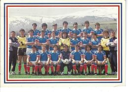 T.Belle Vue De L'équipe De France Pour La Coupe Du Monde De MEXICO EN 1986 - Voetbal
