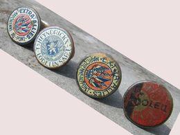 4 Bouchons Capsules Bouteille De Bière - Soleil - Extra Alliés, Marchienne-au-Pont - HEYNDRICK, Lodelinsart       (4830) - Beer