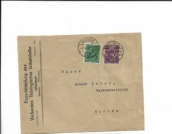 Brief Aus Weimar Nach Apolda  1922 - Cartas