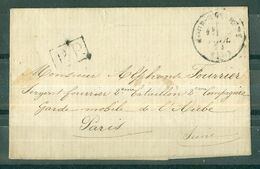 MARQUES POSTALES - Lettre De Février 1871 Adressée En Franchise à Un Garde Mobile à Paris. - Postmark Collection (Covers)