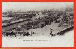 X13431 MARSEILLE (13) Les BASSINS De LA JOLIETTE 190s Phototypie LACOUR 19 Rue Thubaneau - Joliette, Zona Portuaria