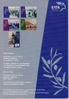GREECE STAMPS MAXIMUM CARDS(5 Pcs)/GREEK OLYMPIC CHAMPIONS 1896-1912 -15/1/04-COMPLETE SET(T) - Cartes-maximum (CM)