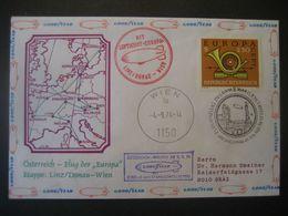 """Österreich 1974- Luftschiffpost Mit Der """"Europa"""" Von Linz Nach Wien - Poste Aérienne"""