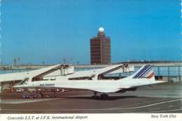CONCORDE AIR-FRANCE F-BVFC Avion 209 à NEW YORK J.F.K. International AIrport - 1946-....: Modern Tijdperk