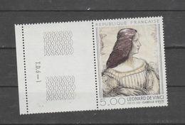 """FRANCE / 1986 / Y&T N° 2446 ** : """"Isabelle D'Este"""" (Léonard De Vinci) X 1 BdF Gb Avec N° De Presse - Neufs"""