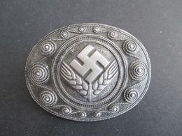 Weiblicher Arbeitsdienst RAD Arbeitsmaid Erinnerungsbrosche In Silber Assmann 1938. Reichsarbeitsdienst Der Frauen - Associations