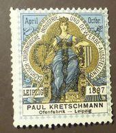Werbemarke Cinderella Poster Stamp Gewerbe Ausstellung Leipzig Ofenfabrik Kretschmann 1897  #110 - Vignetten (Erinnophilie)