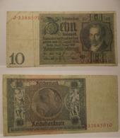 1929  GERMANIA REPUBBLICA DI WEIMAR BANCONOTE TEDESCA  10 ZEHN MARK GERMANY BANKNOT BILLET DE BANQUE ALLEMAND - [ 3] 1918-1933 : Repubblica  Di Weimar