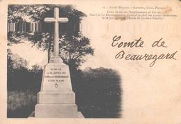 85 - VENDEE-MILITAIRE - CROIX DE SOUVENIRS SCENES PAYSAGES - ICI FUT TUE HENRI DE LA ROCHE JAQUELEIN - Francia