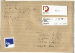 PORTUGAL CC  SANTAREM CON 2 ATM LABEL - Briefe U. Dokumente