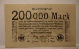 1923  GERMANIA REPUBBLICA DI WEIMAR BANCONOTE TEDESCA  200000  MARK GERMANY BANKNOT BILLET DE BANQUE ALLEMAND - 2 Millionen Mark
