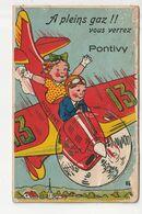 CARTE A SYSTEME - PONTIVY - A PLEINS GAZ !! VOUS VERREZ - Pontivy