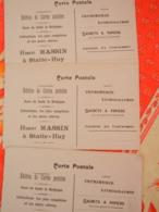 HUY - 3 CPA PUBLICITAIRES POUR HUBERT MASSIN IMPRIMEUR A STATTE - 3 VUES EXPO UNIVERSELLE BRUXELLES 1910 - Huy