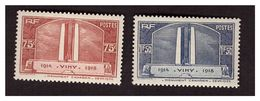 Timbre N° 316 Et 317 Neufs Chres - Unused Stamps