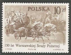 740 Pologne Warsaw Fire Brigade Pompiers Varsovie MNH ** Neuf SC (POL-252) - Pompieri