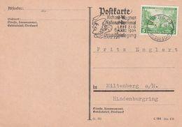 """Deutsches Reich / 1934 / Mi. 501 """"Nothilfe"""" Auf Postkarte, Stempel Leipzig """"R.Wagner-Denkmal"""" (DA45) - Germany"""