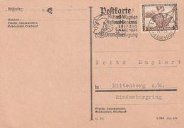 """Deutsches Reich / 1934 / Mi. 499 """"Nothilfe"""" Auf Postkarte, Stempel Leipzig """"R.Wagner-Denkmal"""" (DA46) - Germany"""