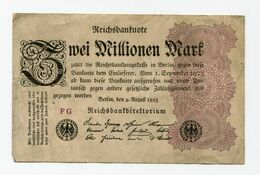 1923  GERMANIA REPUBBLICA DI WEIMAR BANCONOTE TEDESCA   ZUEI 2 MILLIONEN  MARK GERMANY BANKNOT BILLET DE BANQUE ALLEMAND - 2 Millionen Mark