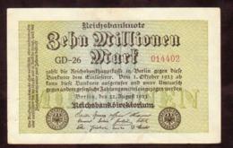 1923  GERMANIA REPUBBLICA DI WEIMAR BANCONOTE TEDESCA ZEHN 10 MILLIONEN  MARK GERMANY BANKNOT BILLET DE BANQUE ALLEMAND - [ 3] 1918-1933: Weimarrepubliek