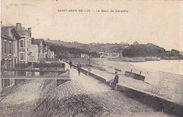 64. SAINT JEAN DE LUZ. CPA. LE SEUIL DE GARANTIE. DIGUE PROMENADE. ANNEE 1911 + TEXTE - Saint Jean De Luz