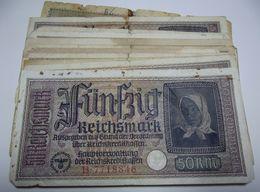 1937 GERMANIA TERZO REICH THIRD REICH BANCONOTE TEDESCA 50 MARK GERMANY BANKNOT BILLET DE BANQUE ALLEMAND TROISIÈME REIC - 1933-1945: Drittes Reich