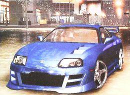 Voiture Rallye TOYOTA SUPRA (2005) - Carte Publicité Jeu Video EA Games  NFSU   (NEED Of SPEED UNDERGROUND 2) - Rallyes