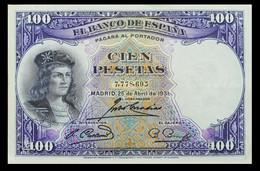 # # # Banknote Spanien (Spain) 100 Pesetas 1931 AU # # # - [ 2] 1931-1936 : Repubblica