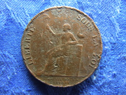 FRANCE 2 SOLS 1791, KM Tn23 Cleaned - 1789-1795 Period: Revolution