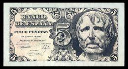 # # # Seltene Banknote Spanien (Spain) 5 Pesetas 1947 UNC- # # # - [ 3] 1936-1975 : Regime Di Franco