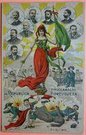 PORTUGAL - PROCLAMACAO DA REPUBLICA PORTUGUEZA - 3 SCANS-12 - Non Classés