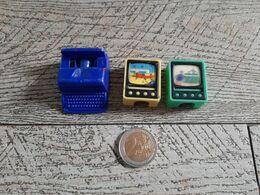 3 Taille Crayon Plastique Télévision Visiomatic Machine à écrire Article De Bureau Ping Pong Avion - Andere Verzamelingen