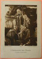 IMAGE PIEUSE ANCIENNE - Art Catholique - L' ADORATION DES MAGES - 176 - SANDRO BOTTICELLI - SCANS RECTO/VERSO - Images Religieuses