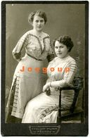 Photo Cabinet Atelier Purr Prerov Portrait Young Women Girls Lipnik Czechoslovakia 1913 - Anonymous Persons