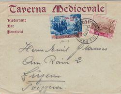 San Marino 1952 - Mandelblüte - Fiera Die Trieste Colon Kolumbus  - Kreuz Kirche Indianer Indigene - Taverna Medioevale - Covers & Documents