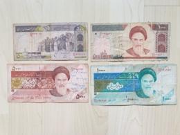 Lot De 4 Billets Circulés D'Iran - Iran
