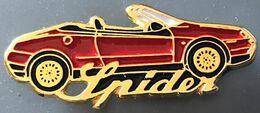 VOITURE -RED CAR - WAGEN - ROTES AUTO - AUTOMOBILE - ALFA ROMEO SPIDER CABRIO ROUGE - ITALIE - ITALIA -       (26) - Alfa Romeo