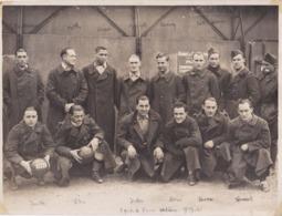 Grande Photographie Football équipe De France 1939 Sous Les Drapeaux En Militaires Tous Identifier RARE   Ref  20/840 - Sport