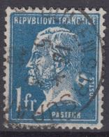 FRANCE : PASTEUR 1Fr N° 179 OBLITERE - TB VARIETE ANNEAU LUNE DERRIERE LA NUQUE - 1922-26 Pasteur