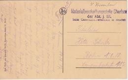 LP Belgien - Materialbeschaffungsstelle Charleroi L3 Feldpostkarte Namur 1917 N. - WW I