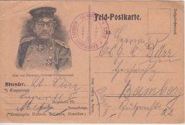 DR - GFM Graf Von Haeseler Illustr. Feldpostkarte Garnisons-Lazarett Metz 1914 - Germany