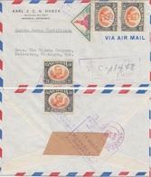 Nicaragua - 3x20 C. UPU U.a. Luftpost Einschreibebrief N. USA Managua 1952 - Nicaragua