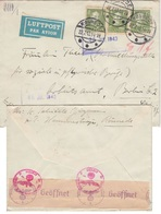 Dänemark - 3x15 Ö. Christian X. Luftpost Zensurbrief Ronnede - Berlin 1943 - Unclassified