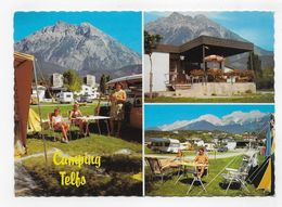 TELFS - CAMPING AM SCWIMMBAD - FAMILIE SCHARMER - MULTIVUES - CPSM GF NON VOYAGEE - Telfs