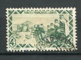 19223 LEVANT  N°49 ° 4F Vert Foncé : Méharistes Evant Les Ruines De Palmyre    1942  B/TB - Usati