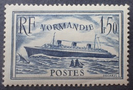 "R1319/185 - 1935/1936 - PAQUEBOT "" NORMANDIE "" - N°299 NEUF** - Cote (2020) : 35,00 € - Nuevos"