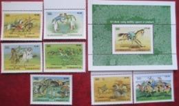 Uzbekistan  2002  National  Sport. Horses  7 V + S/S  MNH - Uzbekistan
