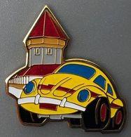 VOITURE - YELLOW CAR - WAGEN - AUTO - AUTOMOBILE - VW - VOLKSWAGEN N° 165 - PONT DE LUCERNE - BRIDGE - MACCHINA -  (26) - Volkswagen